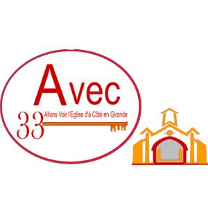 AVEC33 Logo église à Côté Carr