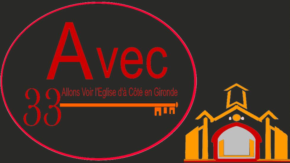 AVEC33 Logo église à Côté Sans Marge Sombre
