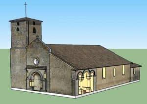 Schéma de l'église Saint Aubin